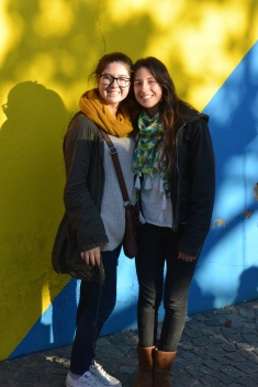 mechi and i in La Boca