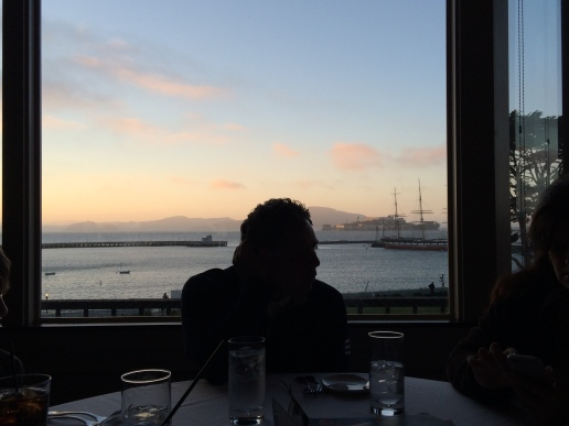 restaurant overlooking alcatraz.